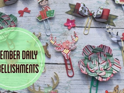 Holiday Planner Clips Tutorial. December Daily Embellishments | I'm A Cool Mom