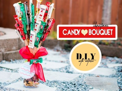How To Create A Christmas Candy Bouquet DIY  l  xolivi