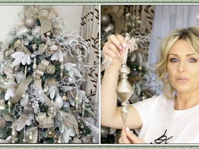 How To Decorate A Christmas Tree With Ribbon  - Winter Wonderland Gold And Silver