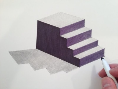 How to Draw 3D Stairs