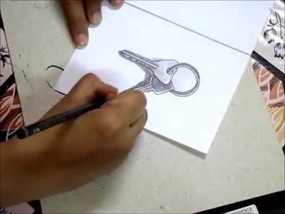 How to draw a 3D Keys