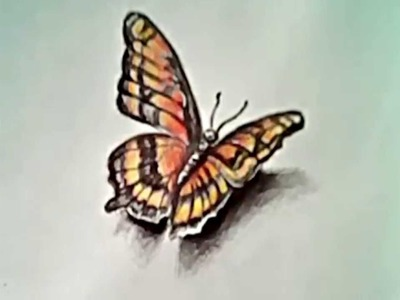 How to Draw a Butterfly (3D drawing)