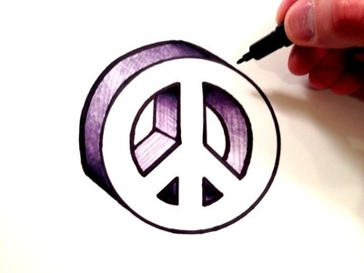 How to Draw a Peace Sign in 3D