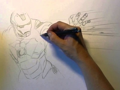 How to draw Iron Man 720p || Draw 3D