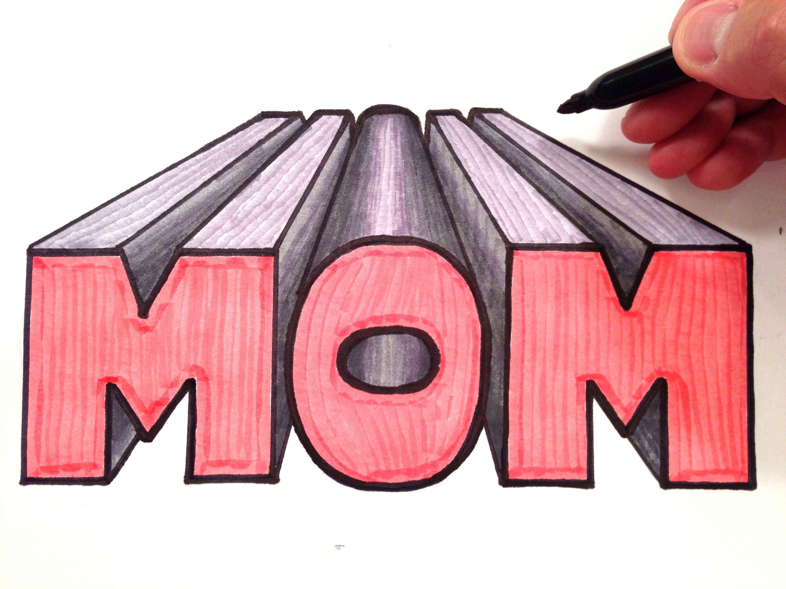 How to draw Mom