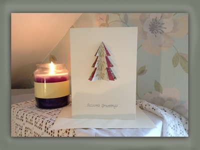 How to make a 3D christmas tree card