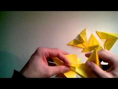Star How To Make A Modular 3d Origami Star Decoration Christmas
