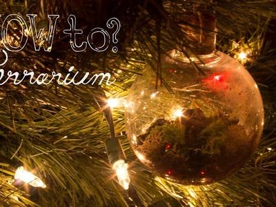 Make a Hanging.Ornament Terrarium - How To Terrarium ep.6 Christmas Edition
