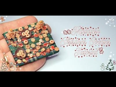 Miniature Christmas Cookies Tutorial-Polymer Clay