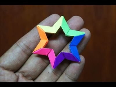 Modular Origami - How to make Modular 3D 6-point Star Origami