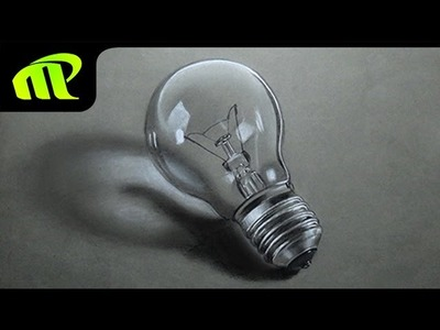 Realistic Bulb Drawing - Time Lapse   3D Drawing