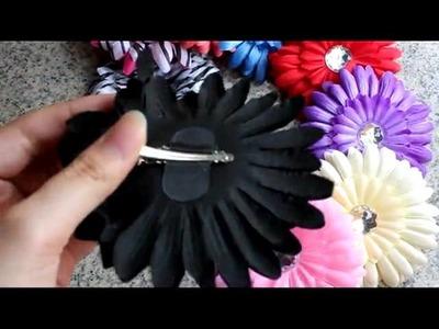 10 pcs Daisy flower Baby Hair Bow Headband Hat yz10w Multi Color