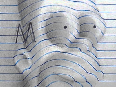 15 Year Old Artist Creates Awesome 3D Notebook Drawings
