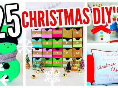 25 DIY Christmas Decorations! Winter Room Decor Ideas!