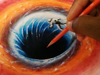 3D Black Hole Drawing - Part 1.2 - Sketch