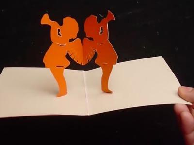 3D Cherubic Angels Pop-up Card Paper Tutorial