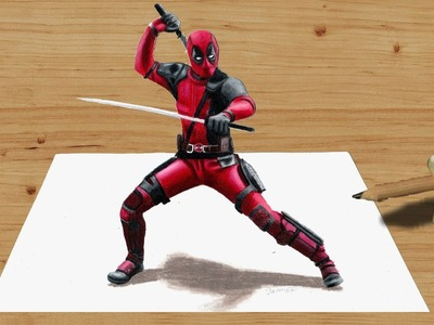 3D Colored Pencil Drawing: Deadpool - Speed Draw | Jasmina Susak