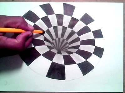 3D Creepy Black Hole How To Draw
