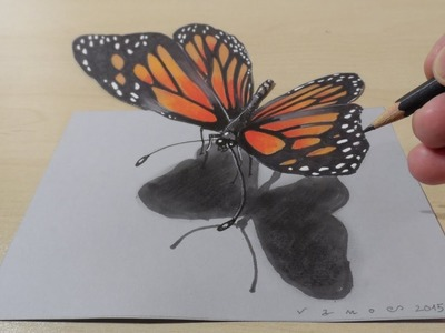 3D Drawing a Butterfly, Magical Art