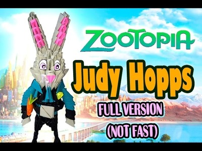 3D MODULAR ORIGAMI #100 JUDY HOPPS from ZOOTOPIA FULL VERSION (NOT FAST)