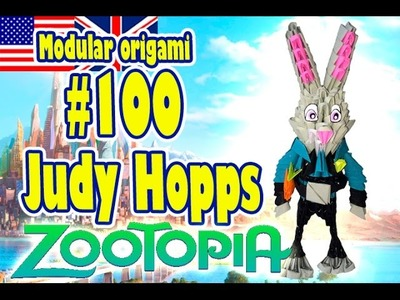 3D MODULAR ORIGAMI #100 JUDY HOPPS from ZOOTOPIA