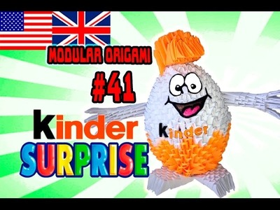 3D MODULAR ORIGAMI #41 KINDER SURPRISE EGG