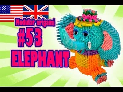 3D MODULAR ORIGAMI #53 ELEPHANT