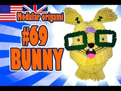 3D MODULAR ORIGAMI #69 BUNNY