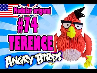 3D MODULAR ORIGAMI #74 TERENCE from ANGRY BIRDS