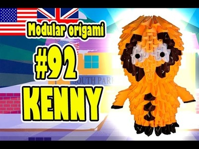3D MODULAR ORIGAMI #92 KENNY SOUTH PARK