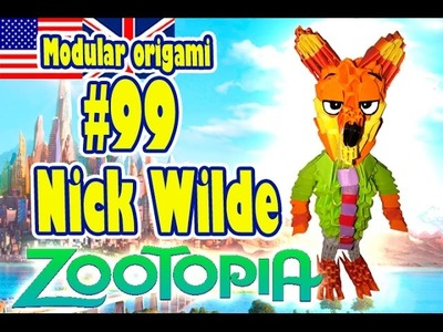 3D MODULAR ORIGAMI #99 NICK WILDE from ZOOTOPIA