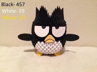 3D Origami Badtz Maru Penguin tutorial