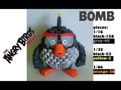 3D ORIGAMI BOMB ANGRY BIRDS MOVIE TUTORIAL BY ALEX