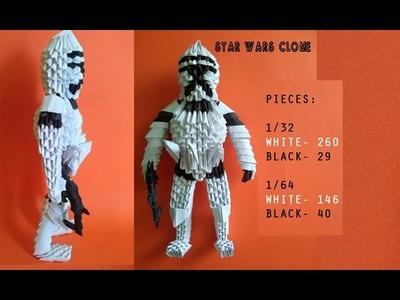3D ORIGAMI CLONE TROOPER STAR WARS TUTORIAL BY ALEX