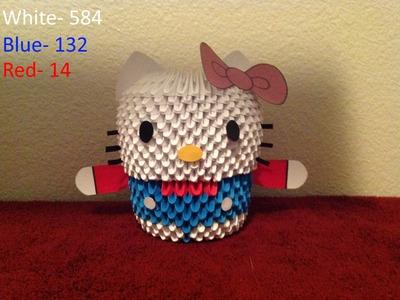 3D Origami Hello Kitty tutorial