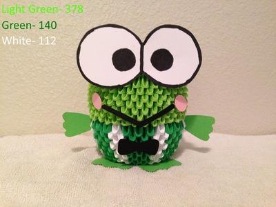 3D Origami Keroppi Frog tutorial