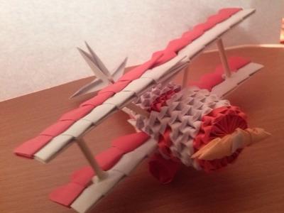3D ORIGAMI MINI AIRPLANE TUTORIAL BY ALEX