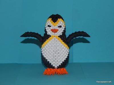 3d origami Penguin tutorial part 2