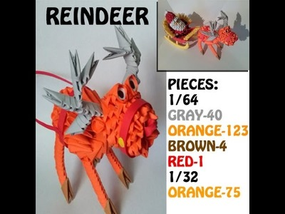 3D ORIGAMI REINDEER TUTORIAL FOR X-MAS COLLECTION BY ALEX