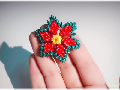 3d origami small flower