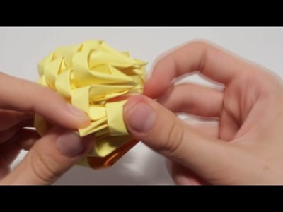 3D Origami Tiny Chick Tutorial