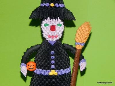3D origami Witch tutorial part2