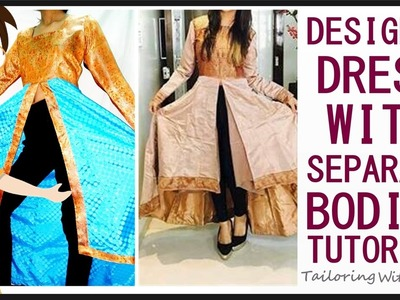 Designer Dress With Separate Bodice | Cutting And Stitching | DIY - Tailoring With Usha