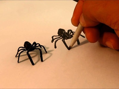 Dibujo- Drawing 3D Spider - How to - Anamorphic - desenho 3D anamórfico (3D anamorfico)