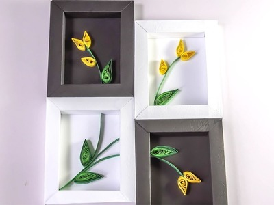 DIY Wall Decor | Paper Quilling Art for Bedroom | HandiWorks #93