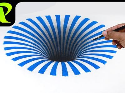 Drawing a 3D Hole -  Anamorphic Illusion