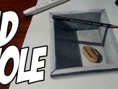 Drawing a 3D hole in the floor - Optical Illusion