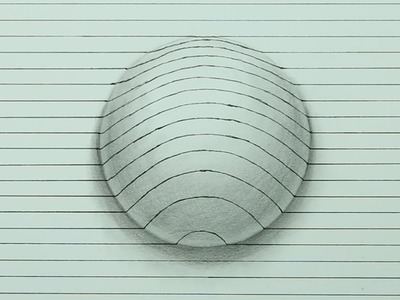 Drawing A 3D Sphere - Optical Illusion (Time Lapse)