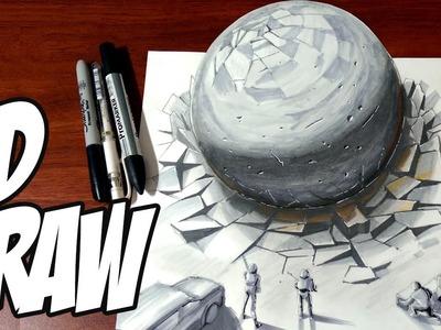 Drawing a 3D Spherical Meteorite