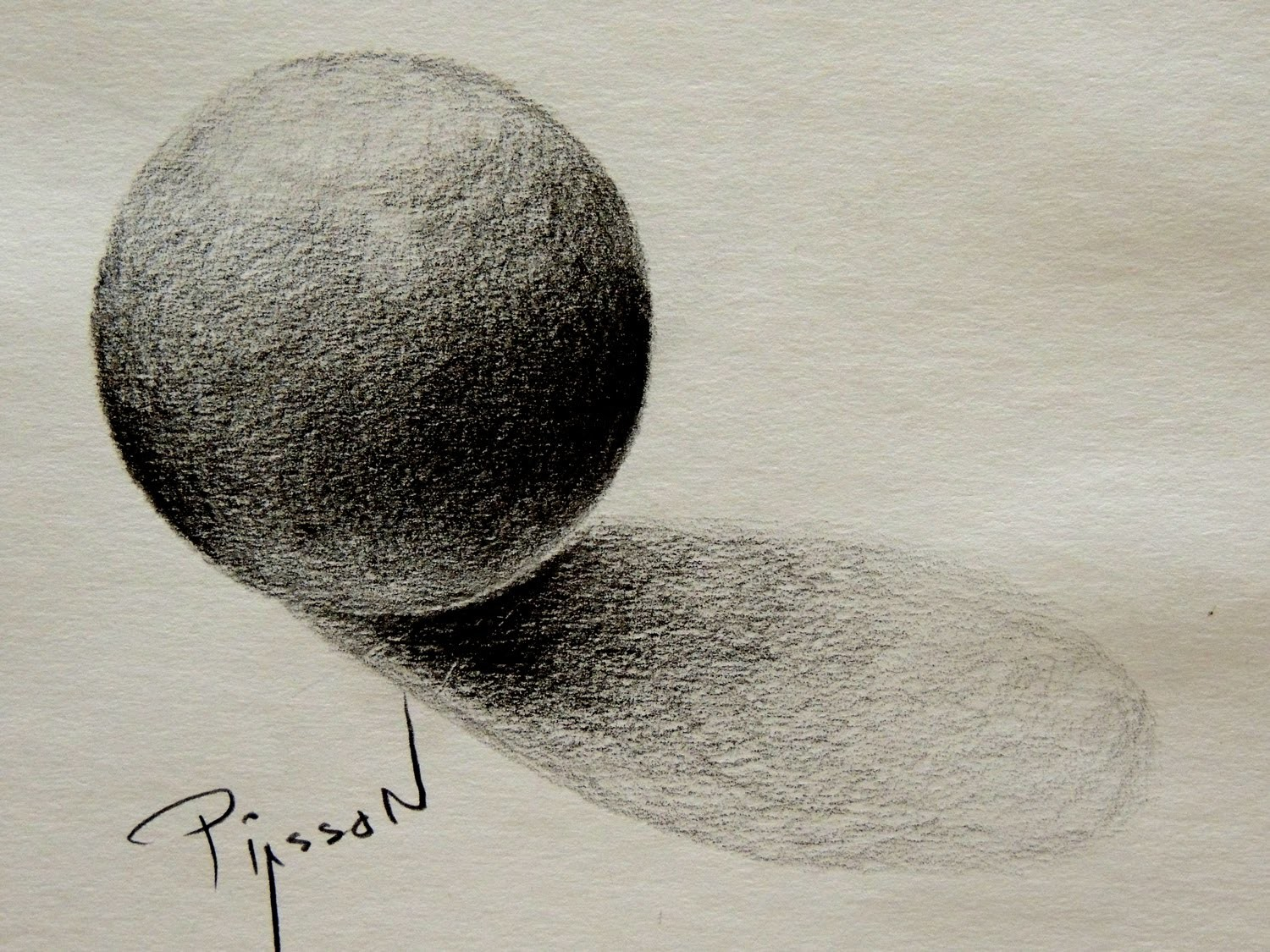 FREEHAND DRAWING a CIRCLE and SPHERE Shade 3D Easy Lesson by PIASSON